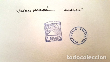 Arte: CUADRO ACUARELA - MARINA - JOSEP MARFA GUARRO - BARCELONA - - Foto 9 - 151043958