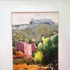 Arte: CUADRO ACUARELA - CARDONA -1980 - JOSEP MARFA GUARRO - BARCELONA -. Lote 151044130