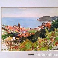 Arte: CUADRO ACUARELA -JOSEP MARFA GUARRO - BARCELONA -. Lote 151044314