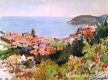 Arte: CUADRO ACUARELA -JOSEP MARFA GUARRO - BARCELONA - - Foto 2 - 151044314