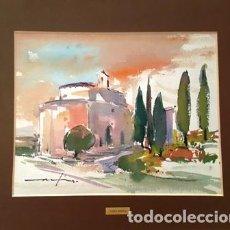 Arte: CUADRO ACUARELA -JOSEP MARFA GUARRO - BARCELONA -. Lote 151044366