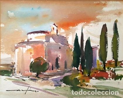 Arte: CUADRO ACUARELA -JOSEP MARFA GUARRO - BARCELONA - - Foto 2 - 151044366
