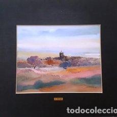 Arte: CUADRO ACUARELA -JOSEP MARFA GUARRO - BARCELONA -. Lote 151046534