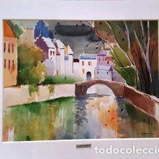 Arte: CUADRO ACUARELA -JOSEP MARFA GUARRO - BARCELONA -. Lote 151047430