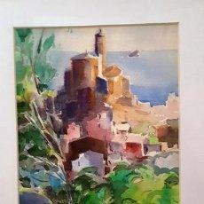 Arte: CUADRO ACUARELA -JOSEP MARFA GUARRO - BARCELONA -. Lote 151048198