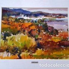 Arte: CUADRO ACUARELA -JOSEP MARFA GUARRO - BARCELONA -. Lote 151048502