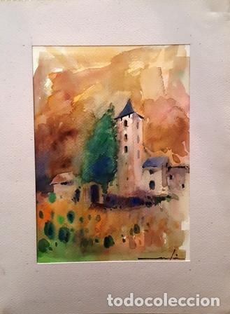 CUADRO ACUARELA -JOSEP MARFA GUARRO - BARCELONA - (Arte - Pintura Directa del Autor)