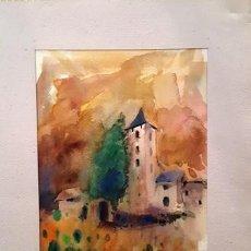 Arte: CUADRO ACUARELA -JOSEP MARFA GUARRO - BARCELONA -. Lote 151049202