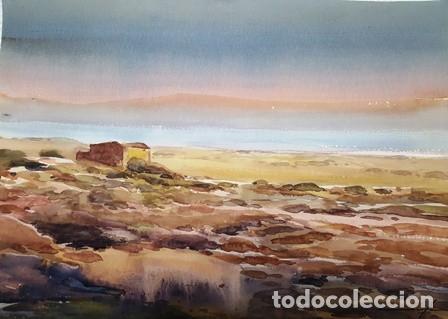 CUADRO ACUARELA - PAISATGE - MARI - JOSEP MARFA GUARRO - BARCELONA - (Arte - Pintura Directa del Autor)