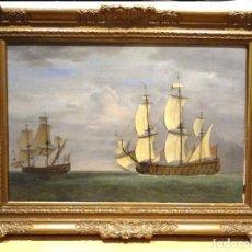 Arte: GRAN OBRA DE ARTE DEL SIGLO XVII ESCUELA DE WILLEM VAN DE VELDE (1633-1707) ALREDEDOR DE 1680. Lote 151085914