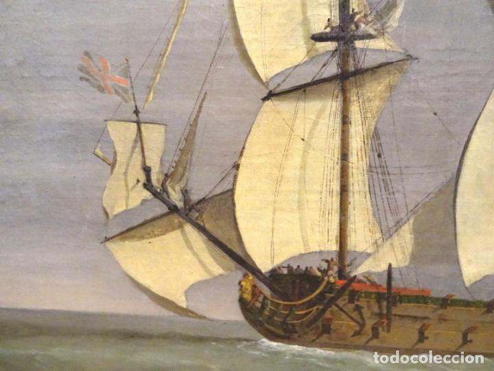 Arte: GRAN OBRA DE ARTE DEL SIGLO XVII ESCUELA DE WILLEM VAN DE VELDE (1633-1707) ALREDEDOR DE 1680 - Foto 6 - 151085914