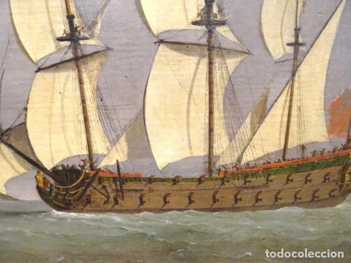 Arte: GRAN OBRA DE ARTE DEL SIGLO XVII ESCUELA DE WILLEM VAN DE VELDE (1633-1707) ALREDEDOR DE 1680 - Foto 8 - 151085914