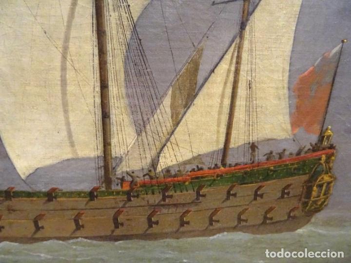 Arte: GRAN OBRA DE ARTE DEL SIGLO XVII ESCUELA DE WILLEM VAN DE VELDE (1633-1707) ALREDEDOR DE 1680 - Foto 9 - 151085914