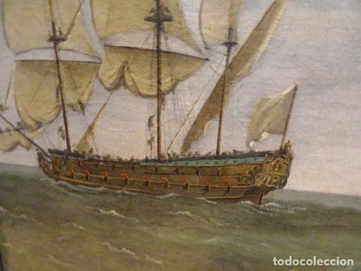 Arte: GRAN OBRA DE ARTE DEL SIGLO XVII ESCUELA DE WILLEM VAN DE VELDE (1633-1707) ALREDEDOR DE 1680 - Foto 10 - 151085914