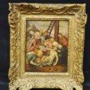 Arte: GRAN OBRA DE ARTE OLEO SOBRE TABLA DEL SIGLO XVI, MAESTRO ITALIANO, DESCENSO DE LA CRUZ, DE 1570/80. Lote 151087914