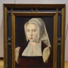 Arte: GRAN OBRA DE ARTE ATRIBUIDA A JOOS VAN CLEVE (1485-1540) RETRATO MUJER FLAMENCA, ALREDEDOR DE 1520. Lote 151094330