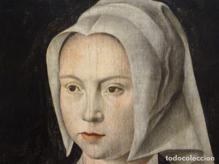 Arte: GRAN OBRA DE ARTE ATRIBUIDA A JOOS VAN CLEVE (1485-1540) RETRATO MUJER FLAMENCA, ALREDEDOR DE 1520 - Foto 2 - 151094330
