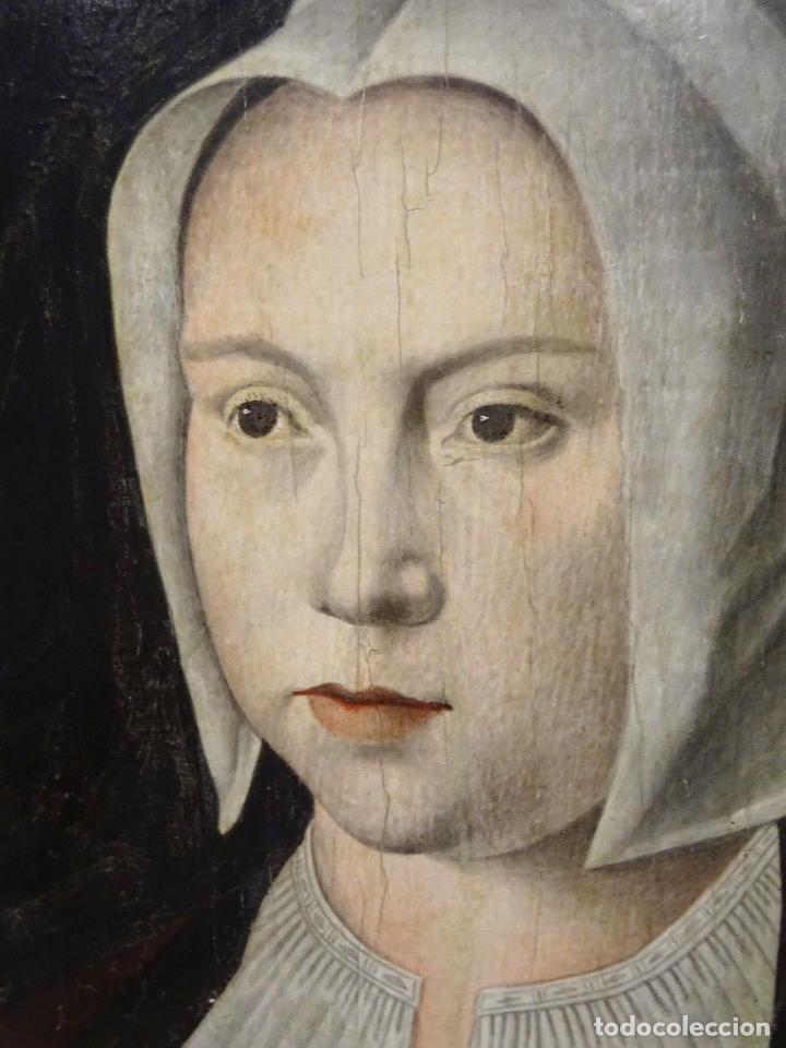Arte: GRAN OBRA DE ARTE ATRIBUIDA A JOOS VAN CLEVE (1485-1540) RETRATO MUJER FLAMENCA, ALREDEDOR DE 1520 - Foto 3 - 151094330