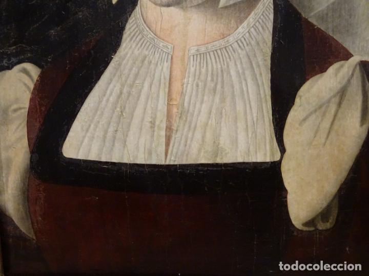 Arte: GRAN OBRA DE ARTE ATRIBUIDA A JOOS VAN CLEVE (1485-1540) RETRATO MUJER FLAMENCA, ALREDEDOR DE 1520 - Foto 4 - 151094330