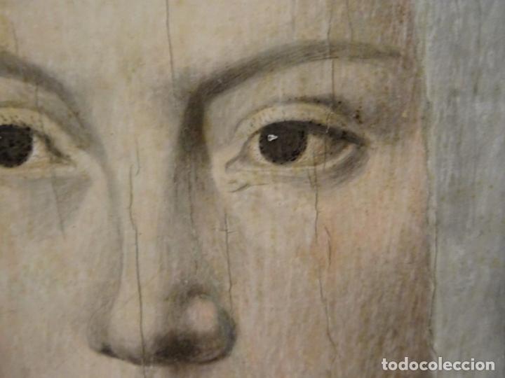 Arte: GRAN OBRA DE ARTE ATRIBUIDA A JOOS VAN CLEVE (1485-1540) RETRATO MUJER FLAMENCA, ALREDEDOR DE 1520 - Foto 5 - 151094330