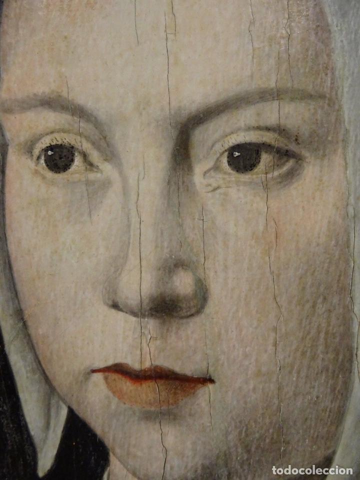 Arte: GRAN OBRA DE ARTE ATRIBUIDA A JOOS VAN CLEVE (1485-1540) RETRATO MUJER FLAMENCA, ALREDEDOR DE 1520 - Foto 6 - 151094330