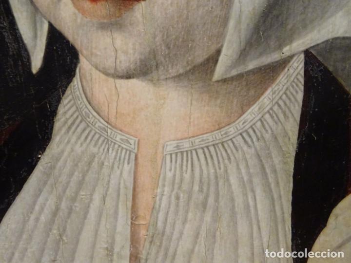 Arte: GRAN OBRA DE ARTE ATRIBUIDA A JOOS VAN CLEVE (1485-1540) RETRATO MUJER FLAMENCA, ALREDEDOR DE 1520 - Foto 7 - 151094330