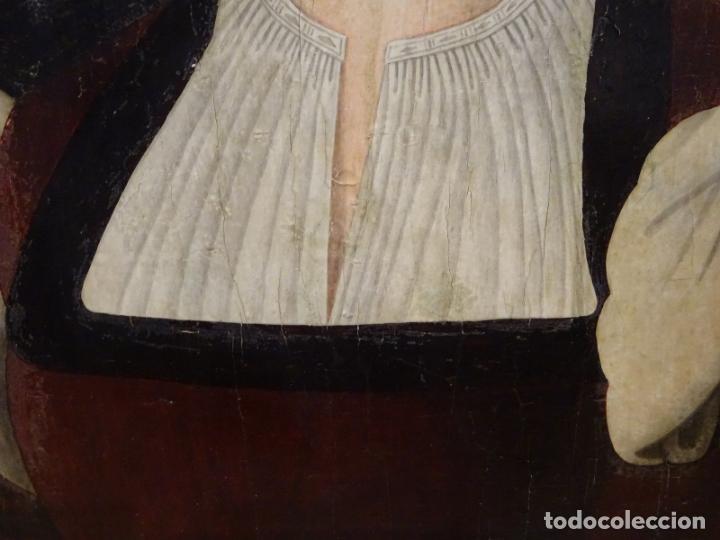 Arte: GRAN OBRA DE ARTE ATRIBUIDA A JOOS VAN CLEVE (1485-1540) RETRATO MUJER FLAMENCA, ALREDEDOR DE 1520 - Foto 8 - 151094330