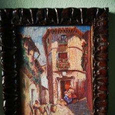 Arte: ANGEL LLACER MUNI (1889-1957) CORDOBA. VISTA ANTIGUA DE CORDOBA, TRADICIONAL. ENMARCADO. 20X27CM. Lote 151120452