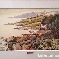 Arte: CUADRO ACUARELA - LLAFRANC - JOSEP MARFA GUARRO - BARCELONA -. Lote 151178782