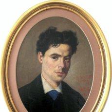 Arte: MAGNIFICO RETRATO MASCULINO FECHADO EN 1860 - FIRMA ILEGIBLE . Lote 151252974