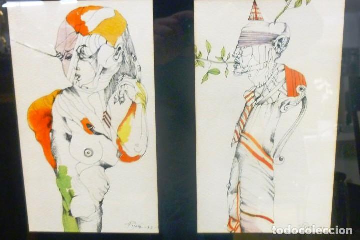 JUAN PIJOAN FIGURAS (Arte - Pintura Directa del Autor)