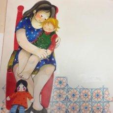 Arte: MARIA RIUS CAMPS, FIRMADO Y CATALOGADO, GRAN FORMATO 45X50 CMS. Lote 151388514