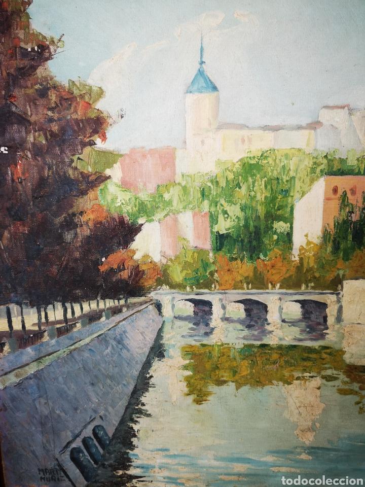Arte: MARTI MUÑIZ, OLEO SOBRE LIENZO 80x54cm, firmado, sin enmarcar. Vista del rio - Foto 2 - 151392970