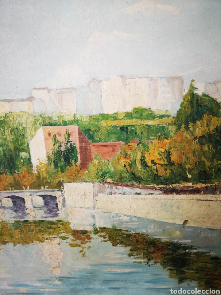 Arte: MARTI MUÑIZ, OLEO SOBRE LIENZO 80x54cm, firmado, sin enmarcar. Vista del rio - Foto 3 - 151392970