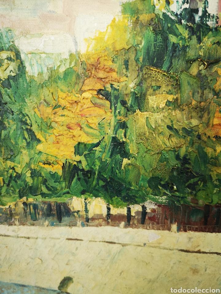 Arte: MARTI MUÑIZ, OLEO SOBRE LIENZO 80x54cm, firmado, sin enmarcar. Vista del rio - Foto 4 - 151392970