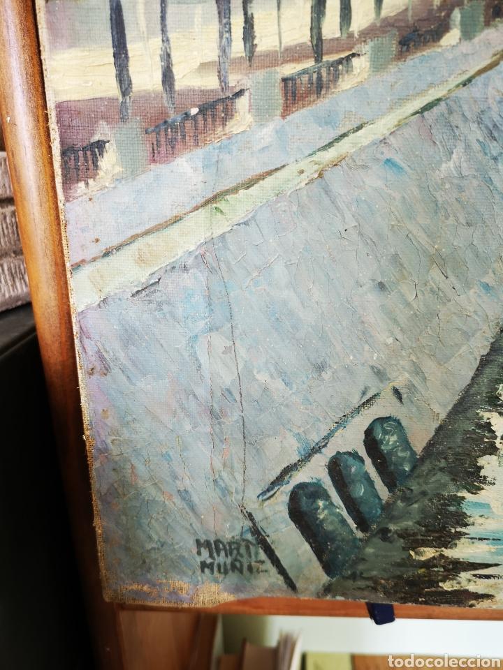 Arte: MARTI MUÑIZ, OLEO SOBRE LIENZO 80x54cm, firmado, sin enmarcar. Vista del rio - Foto 5 - 151392970