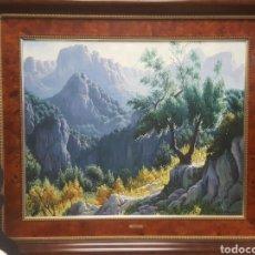 Arte: PRECIOSO PAISAJE . OLEO SOBRE LIENZO. GRAN TAMAÑO. Lote 151413029