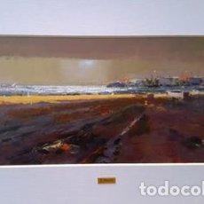 Arte: PINTURA ACUARELA - PLATJA DE LLANÇA - ANY 1986 - DE - JOSEP MARFA GUARRO - BARCELONA -. Lote 151464982