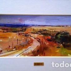 Arte: PINTURA ACUARELA - PAISATGE ALT AMPURDA - ANY 1992 - DE - JOSEP MARFA GUARRO - BARCELONA -. Lote 151465078