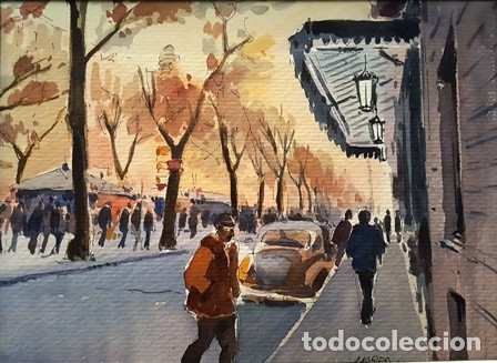 Arte: PINTURA ACUARELA - DE - JOSEP MARFA GUARRO - BARCELONA - - Foto 2 - 151465102