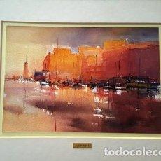 Arte: PINTURA ACUARELA - PORT DE TARDA - DE - JOSEP MARFA GUARRO - BARCELONA -. Lote 151465414