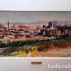Arte: PINTURA ACUARELA - SABADELL - DE - JOSEP MARFA GUARRO - BARCELONA -. Lote 151465490