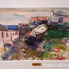 Arte: PINTURA ACUARELA - EL GRAO - MENORCA - ANY 1986 - DE - JOSEP MARFA GUARRO - BARCELONA -. Lote 151465646