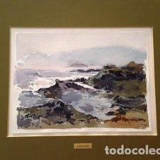 Arte: PINTURA ACUARELA - LLANÇA - ANY 1986 - DE - JOSEP MARFA GUARRO - BARCELONA -. Lote 151465666