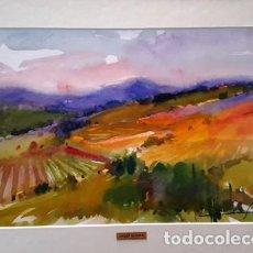 Arte: PINTURA ACUARELA - VNYES DEL ALT AMPURDA - ANY 1988 - DE - JOSEP MARFA GUARRO - BARCELONA -. Lote 151465726