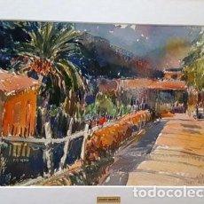 Arte: PINTURA ACUARELA - DEYA - ANY 1981 - DE - JOSEP MARFA GUARRO - BARCELONA -. Lote 151465790