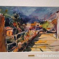 Arte: PINTURA ACUARELA - DEYA - ANY 1979 - DE - JOSEP MARFA GUARRO - BARCELONA -. Lote 151465846