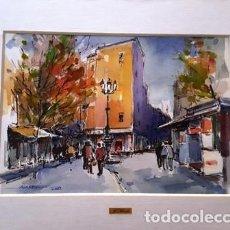 Arte: PINTURA ACUARELA - CARRER SAN PERE BAIX - BCN - ANY 2002 - DE - JOSEP MARFA GUARRO - BARCELONA -. Lote 151465906