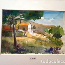 Arte: PINTURA ACUARELA - CASA PERIAL DE JOAQUIM FALCO - LLANÇA - DE - JOSEP MARFA GUARRO - BARCELONA -. Lote 151465974