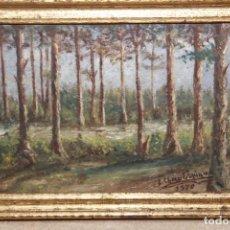 Arte: PAISAJE AL ÓLEO DE E. CHAO ESPINA. Lote 151466414